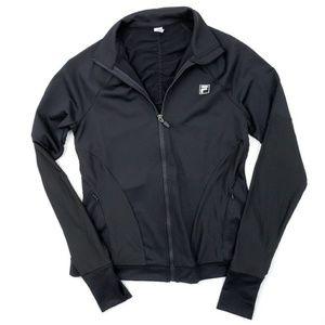 NWOT Fila Full Zip Athletic Jacket Black Running S